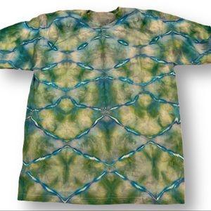 Tie dye dragon fish scales unisex xl tshirt